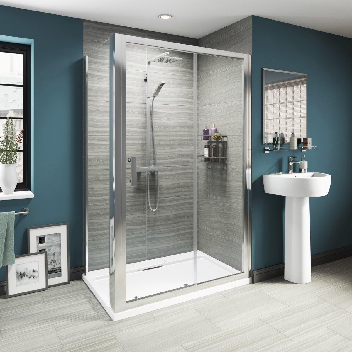 Luxury 8mm sliding shower enclosure 1400 x 800 - Luxury shower cubicles ...