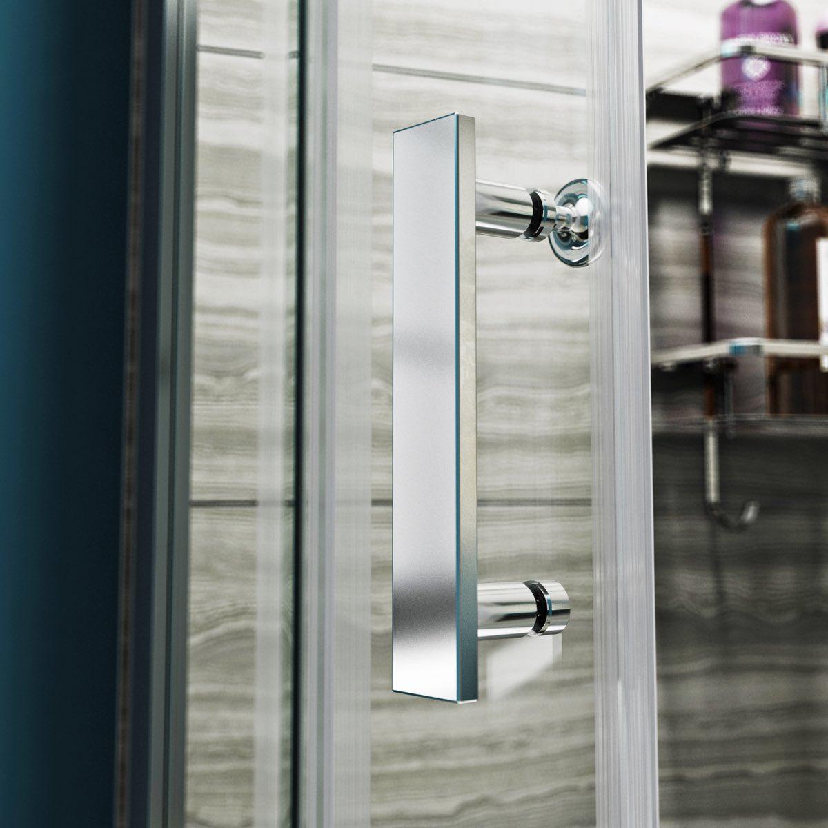 V8 8mm Framed Offset Quadrant Shower Enclosure 1200 X 800