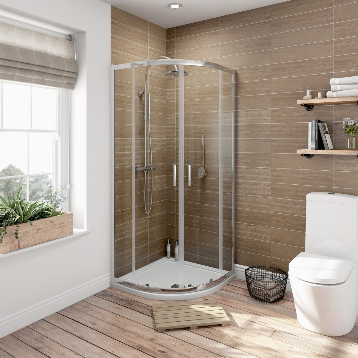 6mm Sliding Quadrant Shower Enclosure 900 X 760