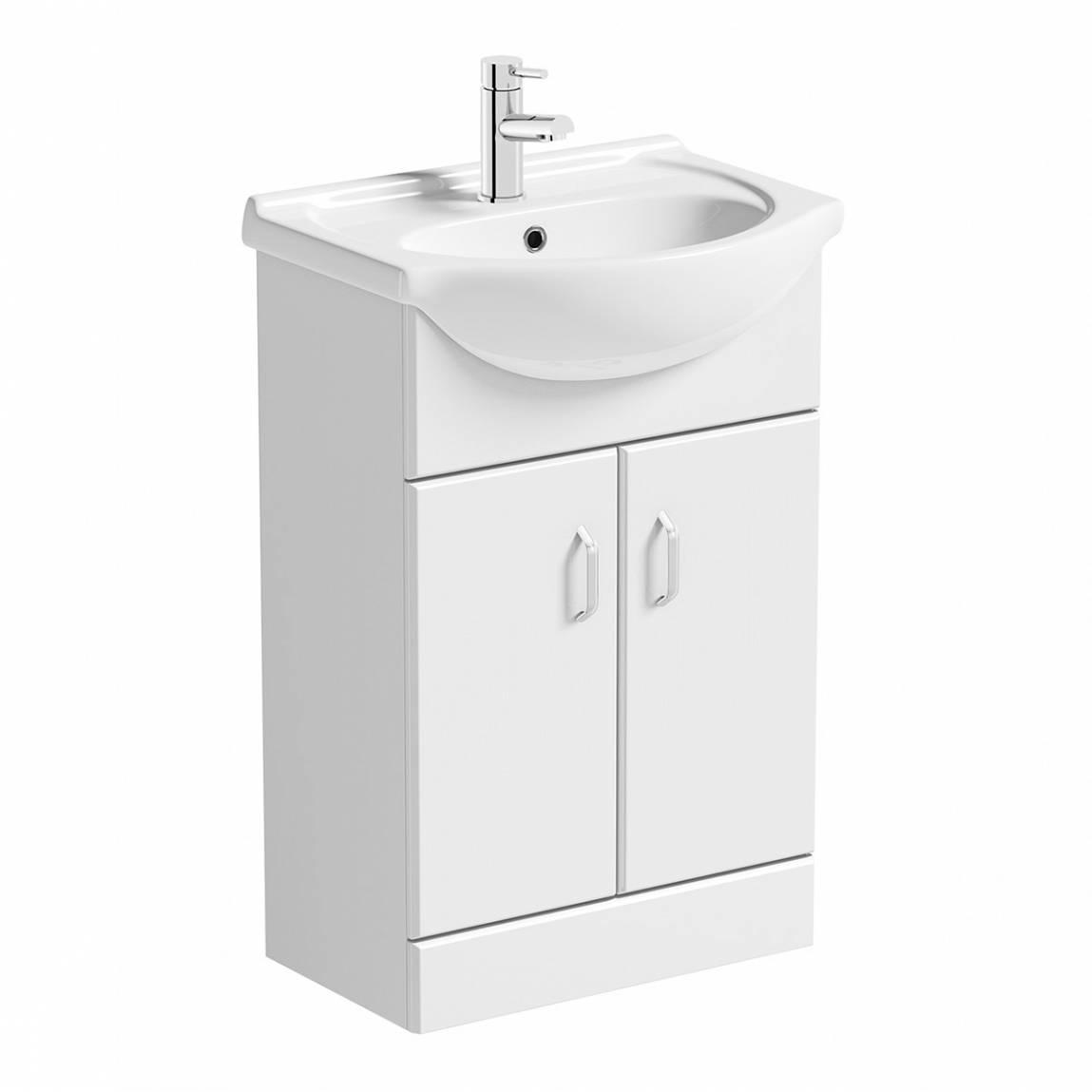 Image of Granada 550 White Vanity Unit & Basin