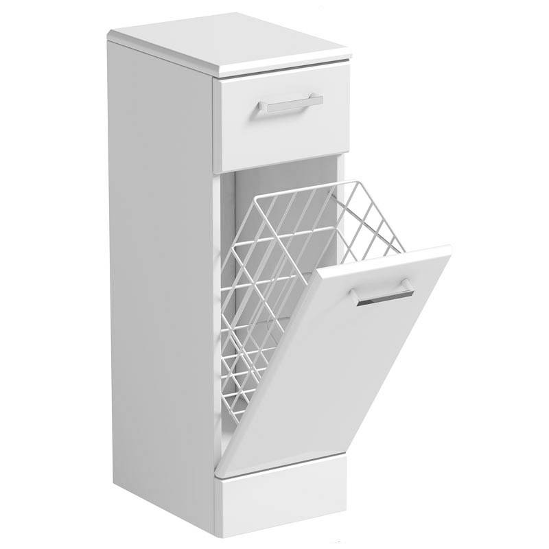 Image of Sienna White Linen Basket 330