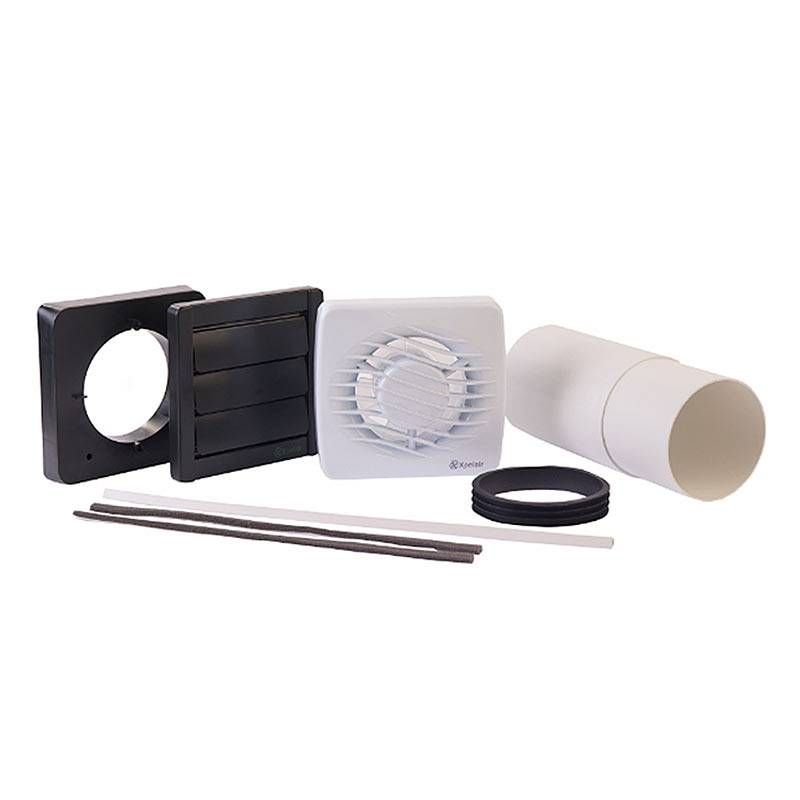 "Image of Xpelair 4"" (100mm) Standard Bathroom Fan with Fitting Kit"