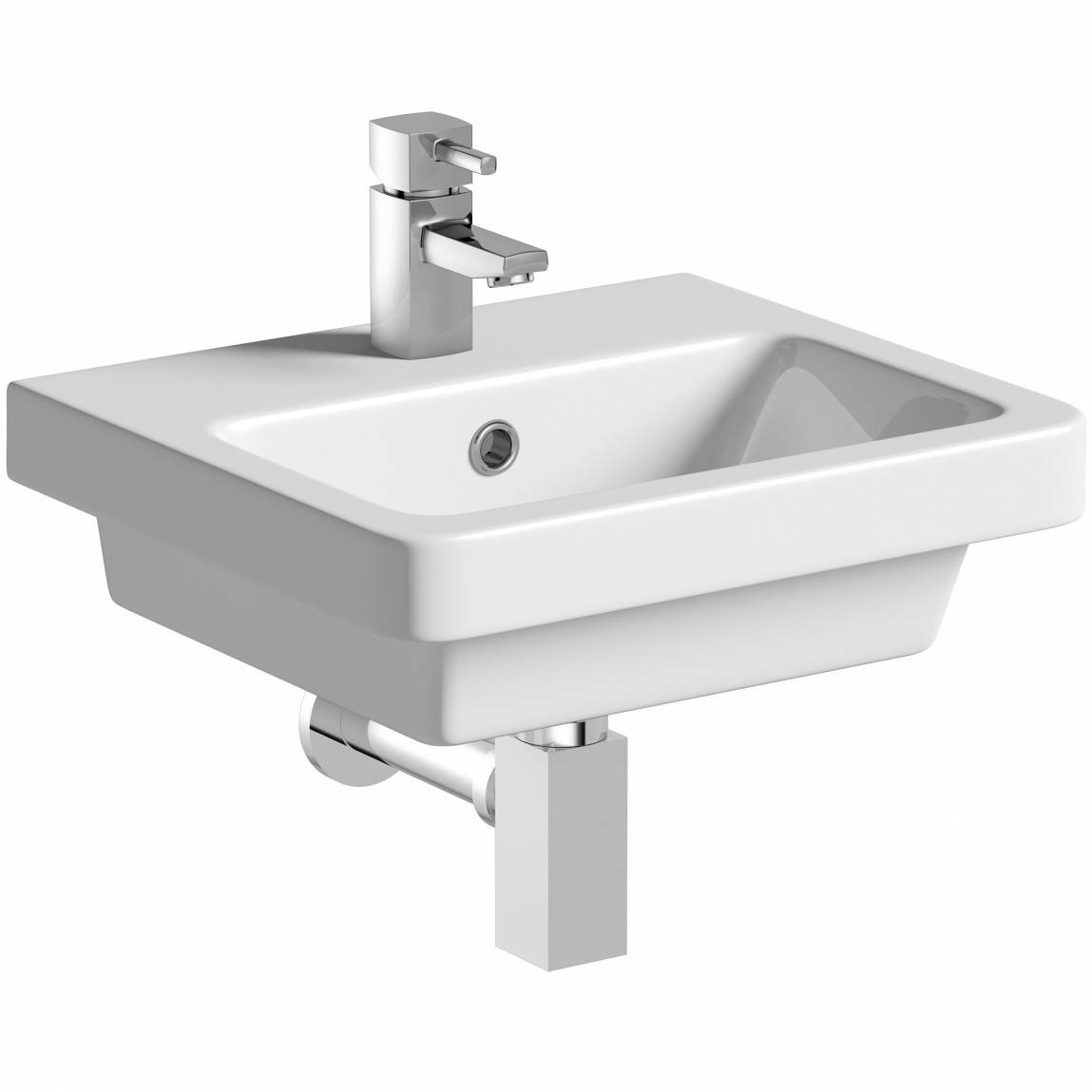 Image of Verso 1TH 400mm Wall Hung Basin