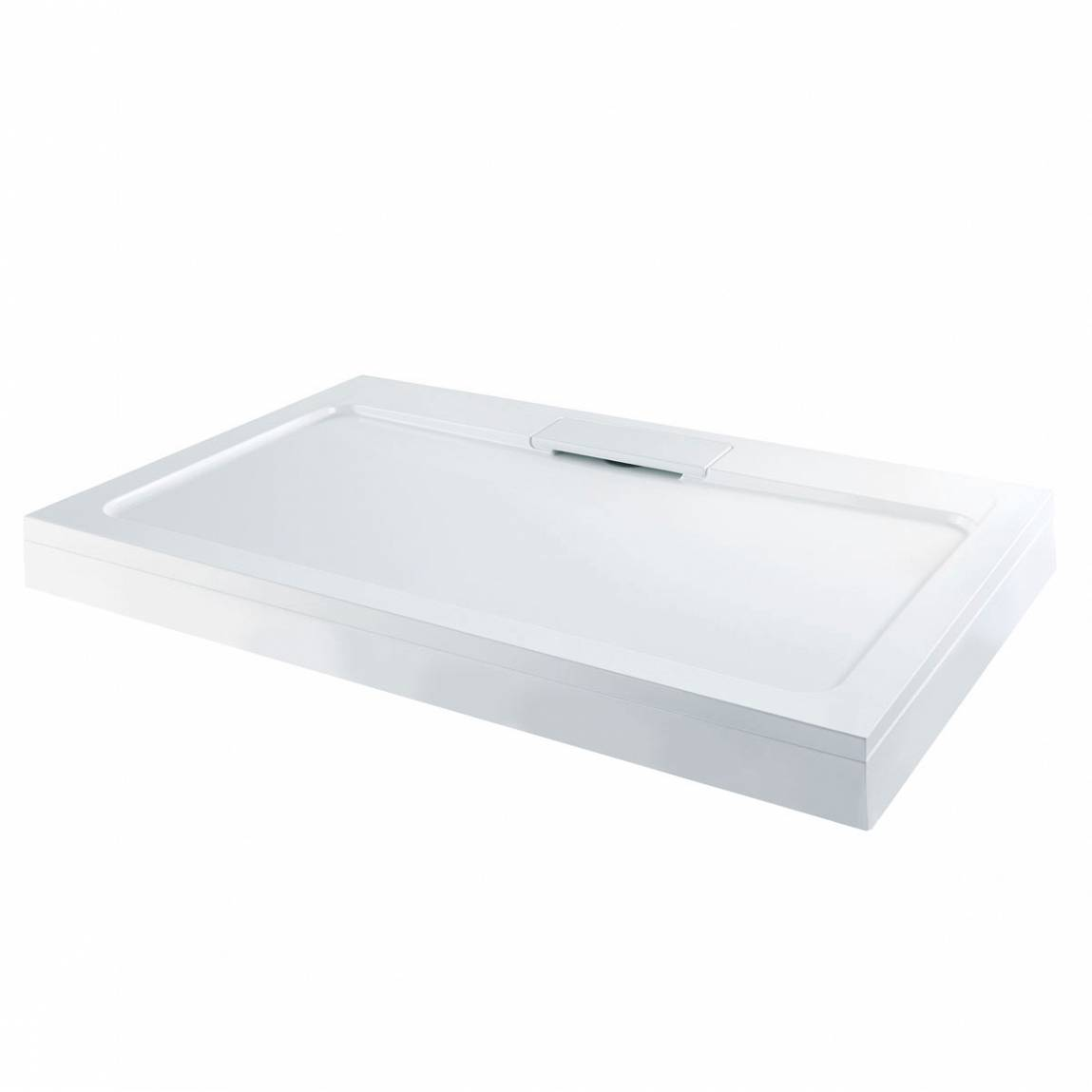 Image of Designer Rectangular Stone Shower Tray & Riser Kit 1000 x 800