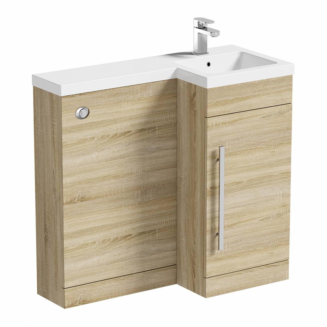 Image of MySpace Oak Combination Unit RH including Concealed Cistern