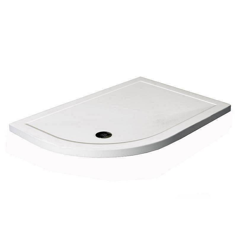 Image of Offset Quadrant Stone Shower Tray 900 x 760 LH