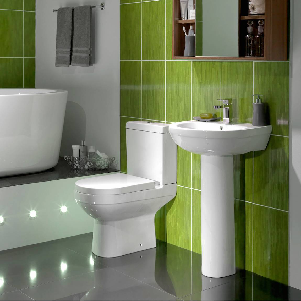 Image of Balance Toilet and basin Suite