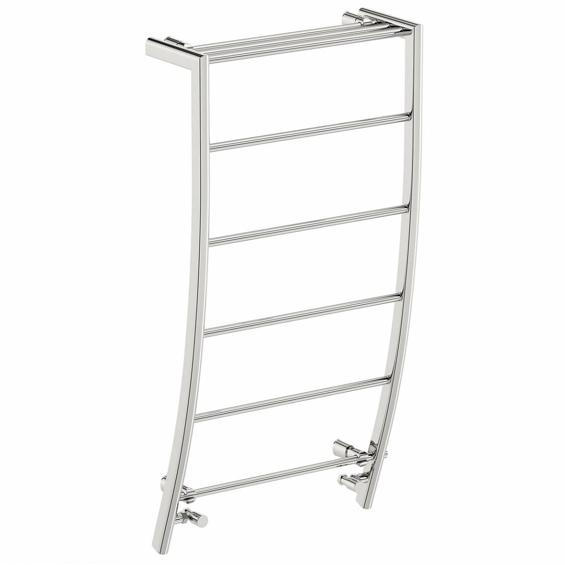 Image of Chrome Curved Heated Towel Rail 1200 x 600