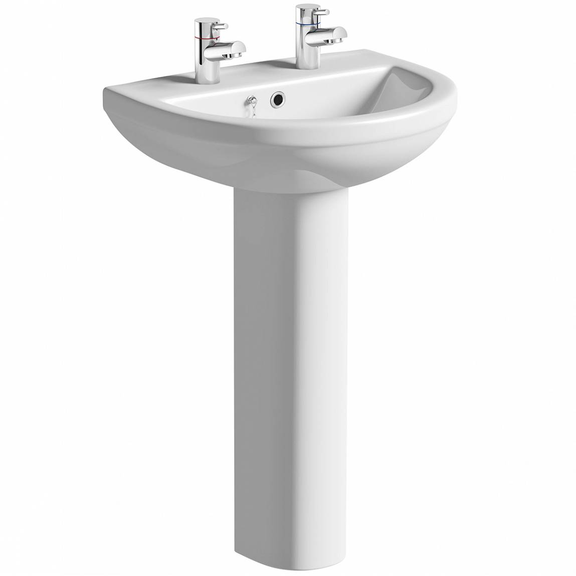 Image of Oakley 550 2TH Basin & Full Pedestal