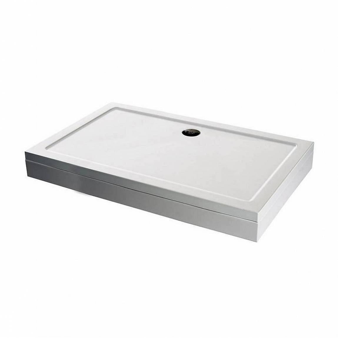 Image of Rectangular Stone Shower Tray & Riser Kit 1000 x 900