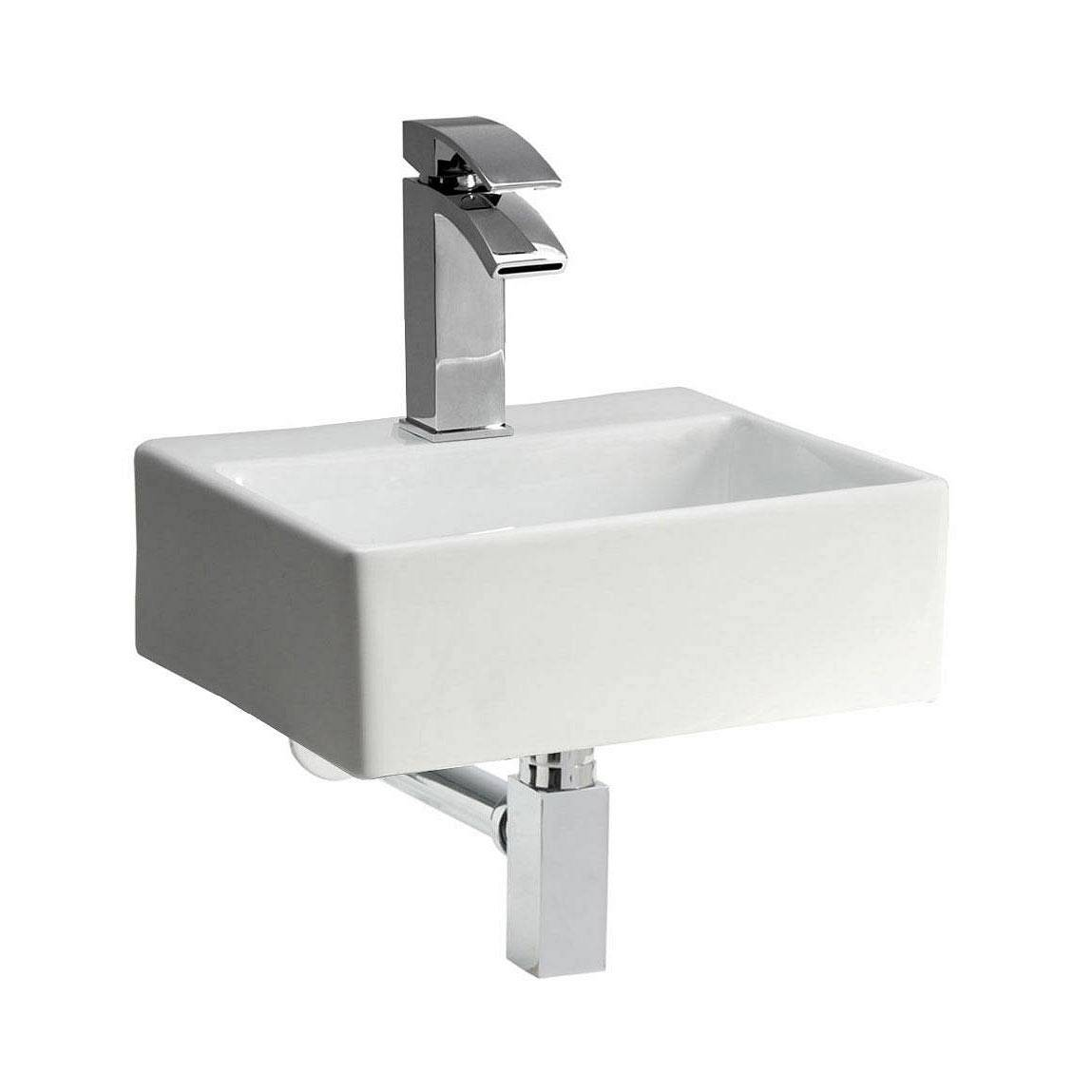 Image of Bologna Wall Mounted Basin PLUS Waste
