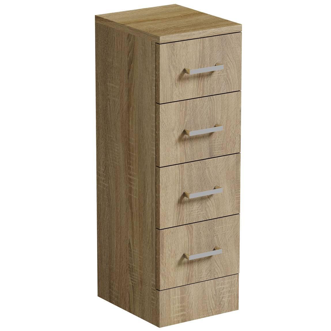 Image of Sienna Oak Multi Drawer Unit 300