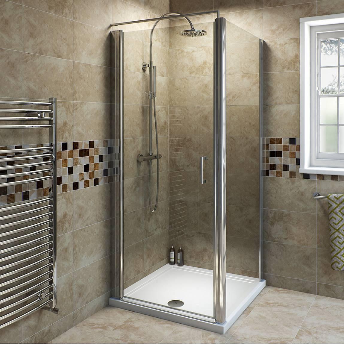 Image of V6 Frameless Hinged Shower Enclosure 900