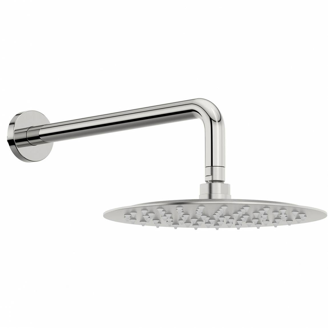Image of Cirrus 250mm Shower Head & Curved Wall Arm