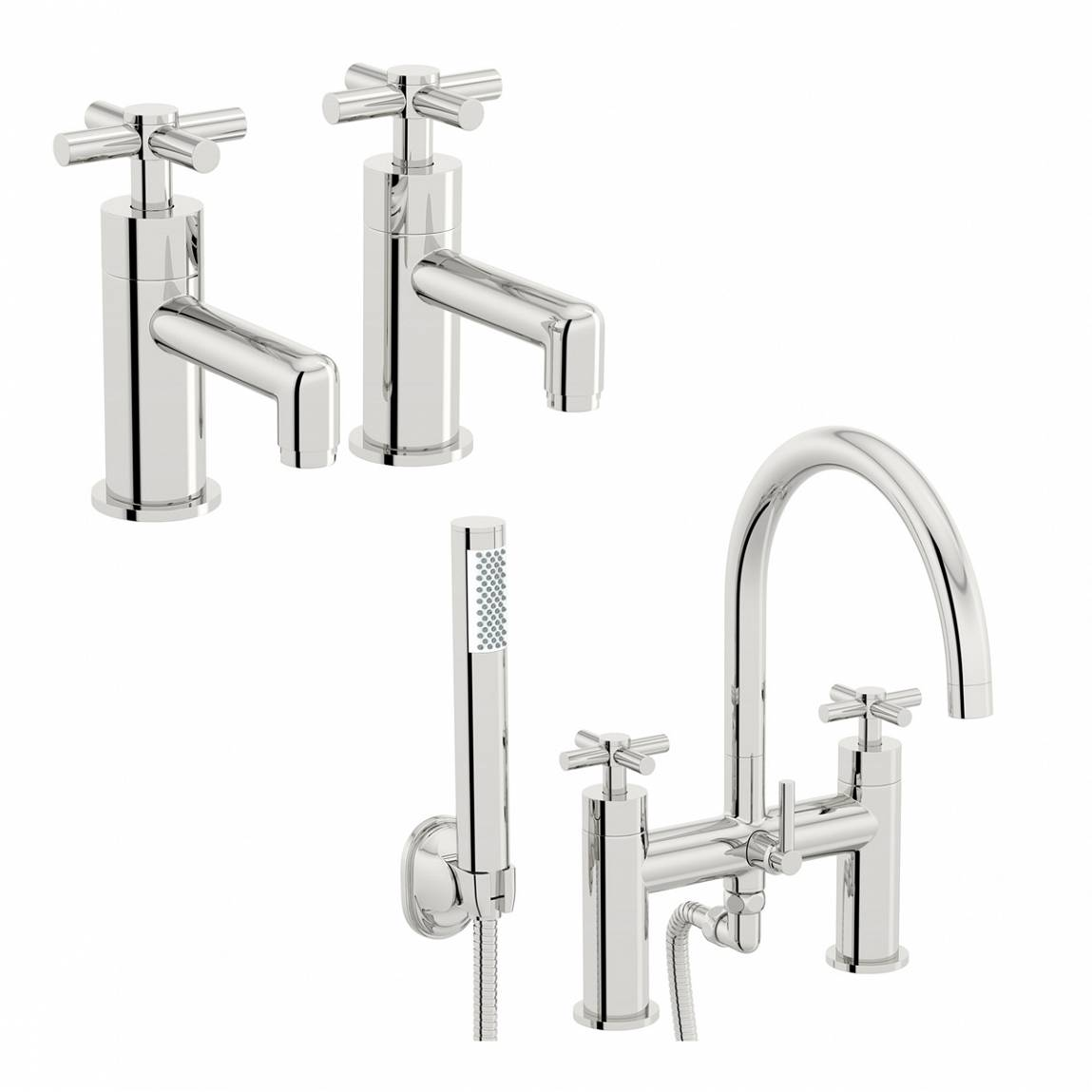 Image of Alexa Basin Tap and Bath Shower Mixer Pack