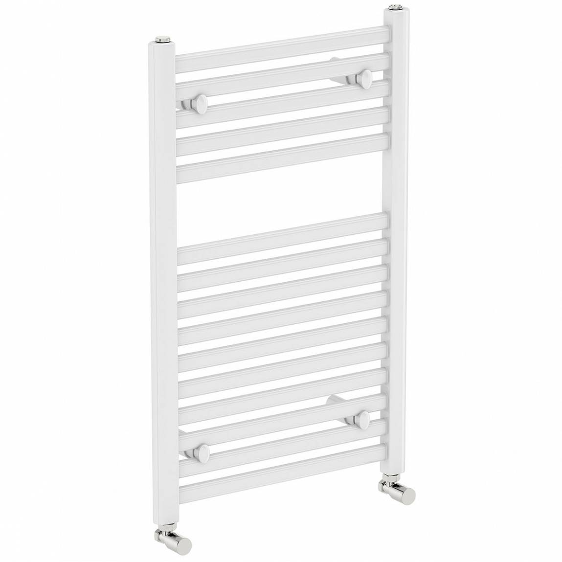 Image of White Heated Towel Rail 800 x 450 PLUS Standard Valves