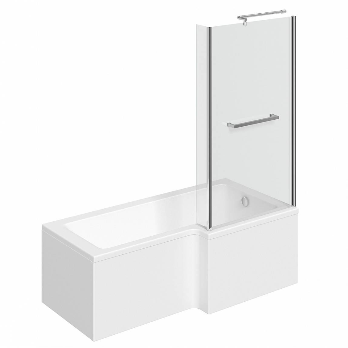 Image of Boston Shower Bath 1500 x 850 RH inc. Screen & Towel Rail