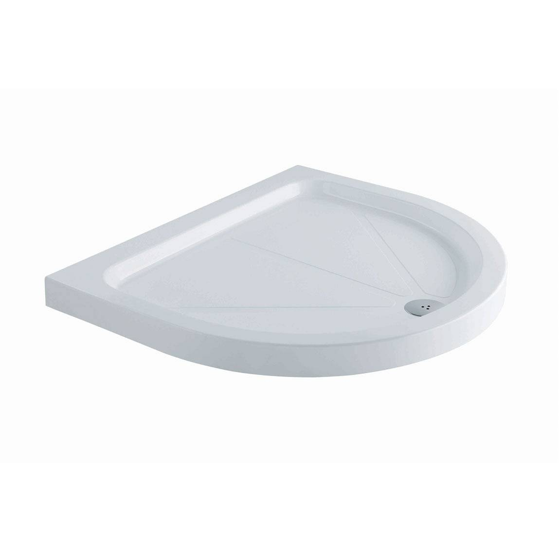 Image of D Shaped Stone Shower Tray