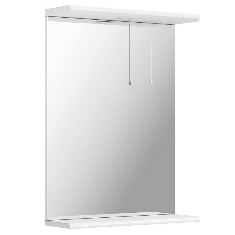 Image of Sienna White 55 Mirror with lights