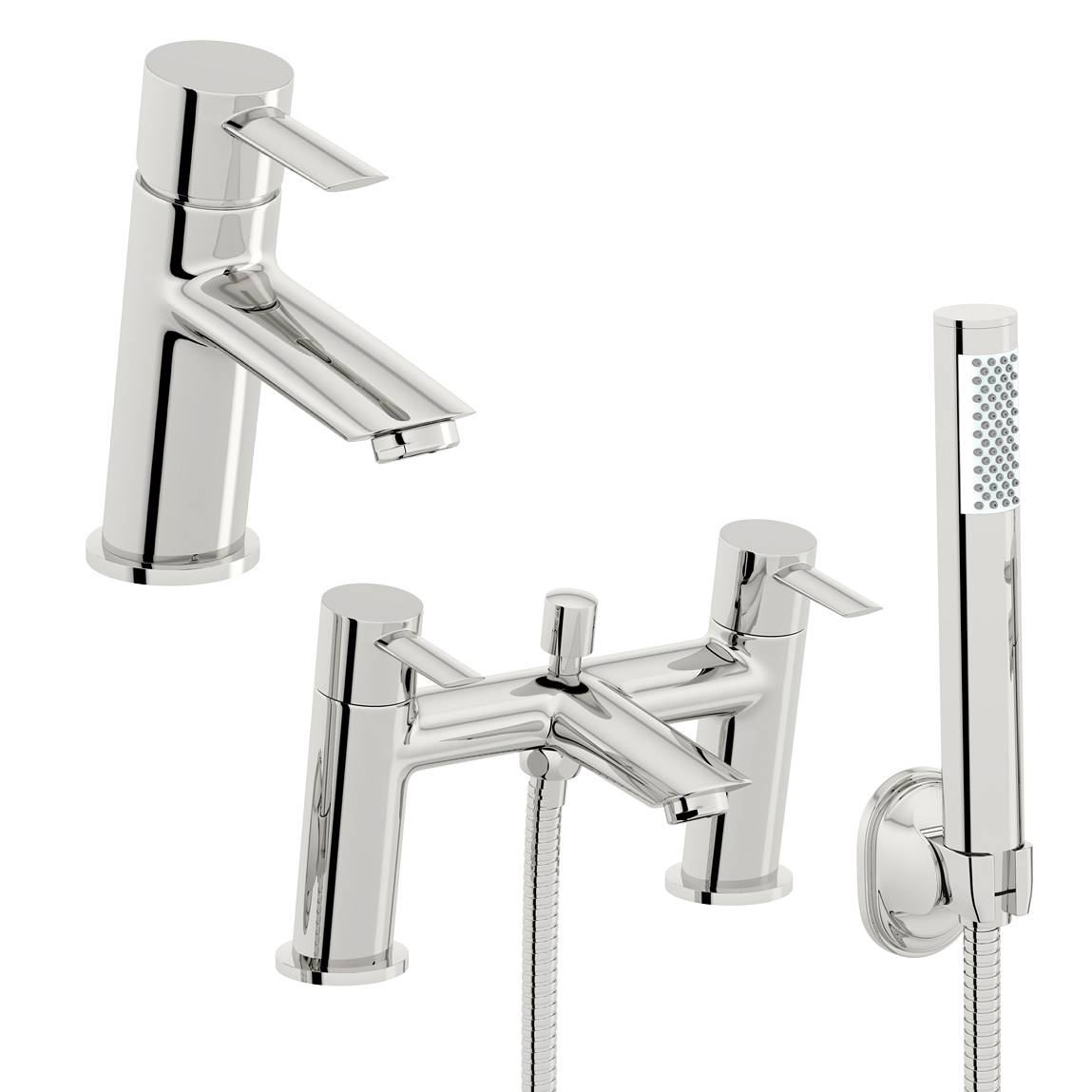 Image of Pure Basin and Bath Shower Mixer Pack