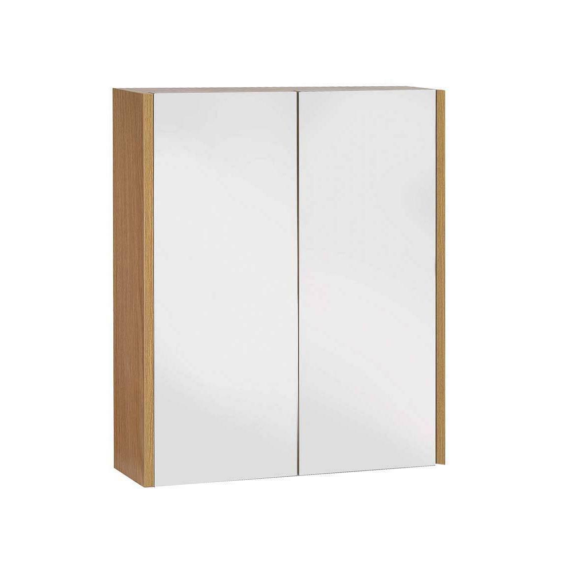 Image of Odessa Oak 2 Door Mirror Cabinet