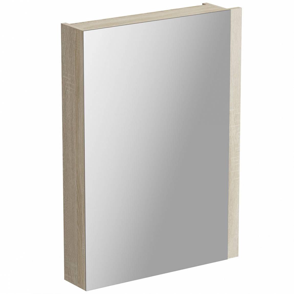Image of Drift Sawn Oak Mirror Cabinet