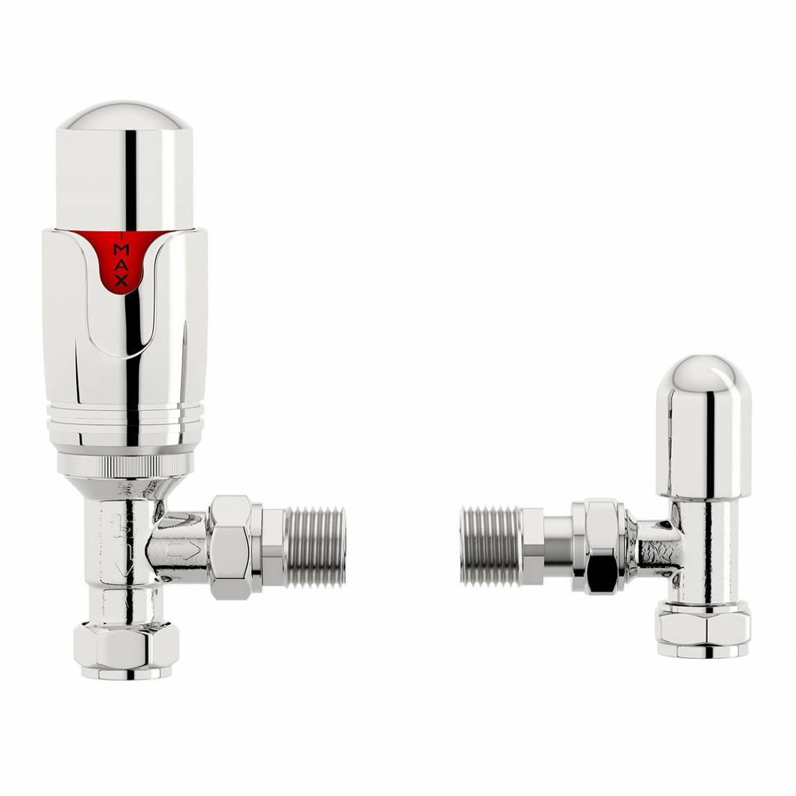 Image of Thermostatic Chrome Angled Radiator Valves