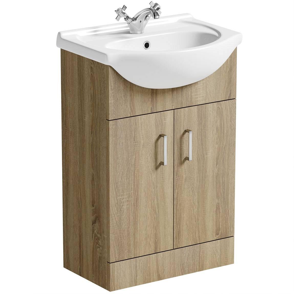 Image of Sienna Oak 55 Vanity Unit & Basin