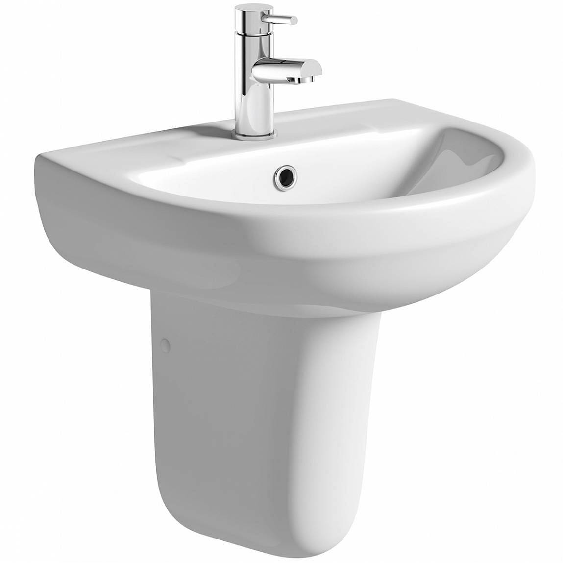 Image of Oakley 550 1TH Basin & Semi Pedestal