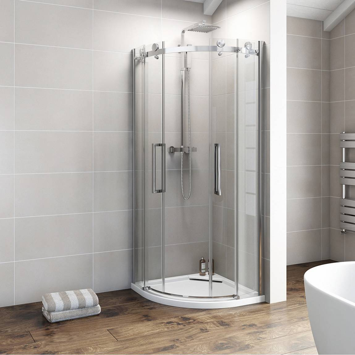 V8+ Frameless Quadrant Shower Enclosure 900