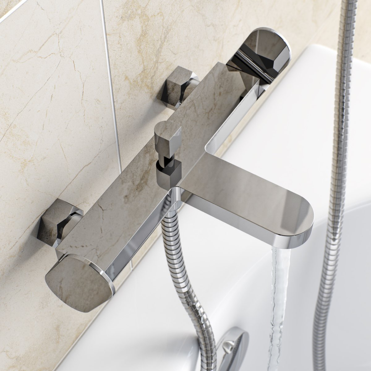 Image of Stanford Wall Mounted Bath Shower Mixer