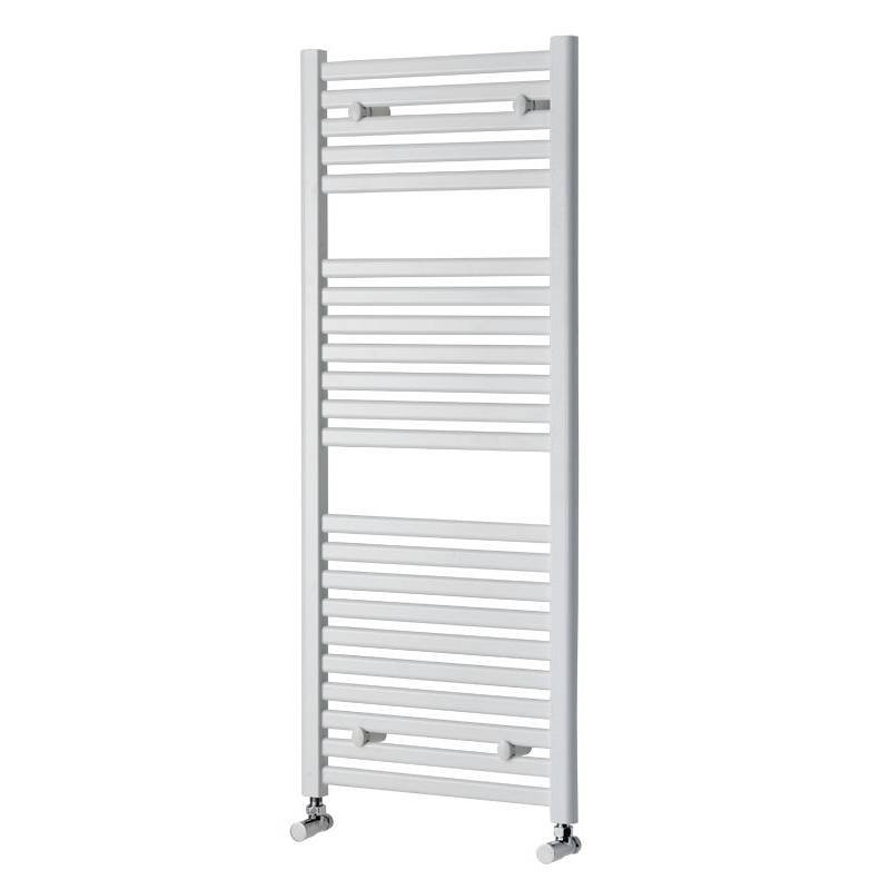 Image of White Heated Towel Rail 1200 x 500 PLUS Valves