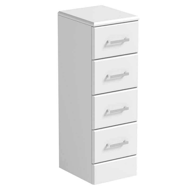 Image of Sienna White Multi Drawer Unit 330