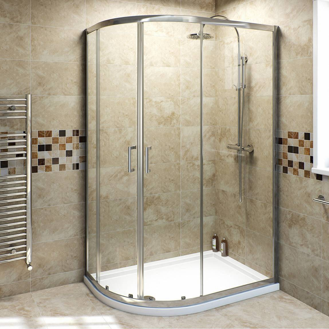 Image of V6 6mm Quadrant Offset Shower Enclosure 1000 x 800