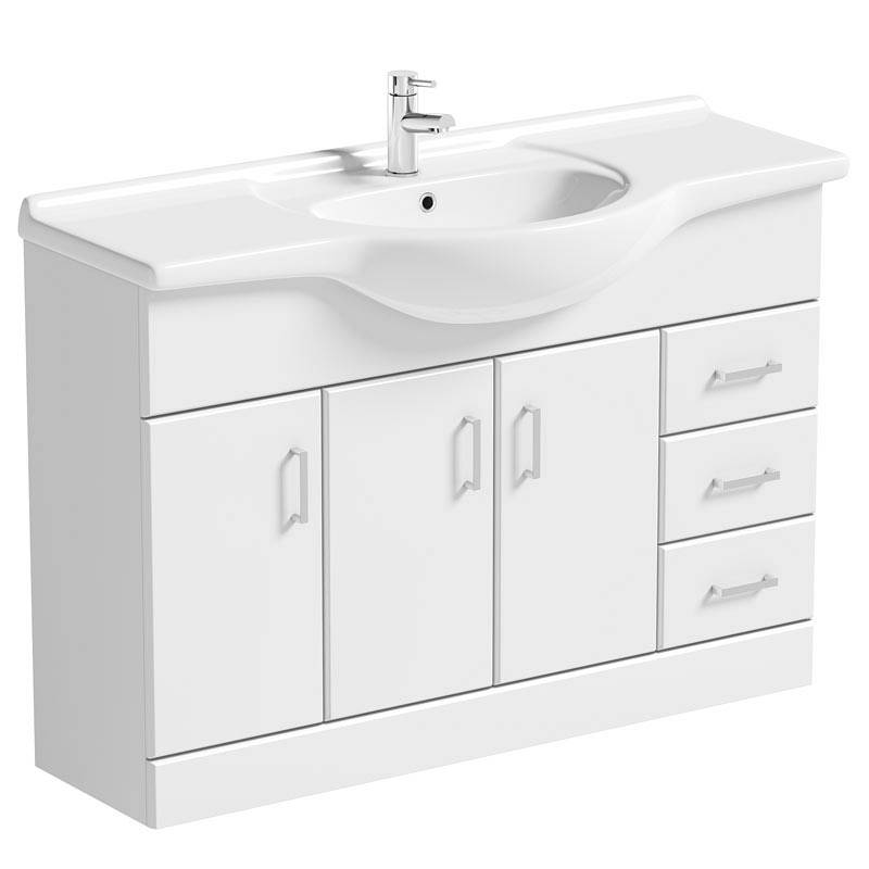 Image of Sienna White 120 Vanity Unit and Basin