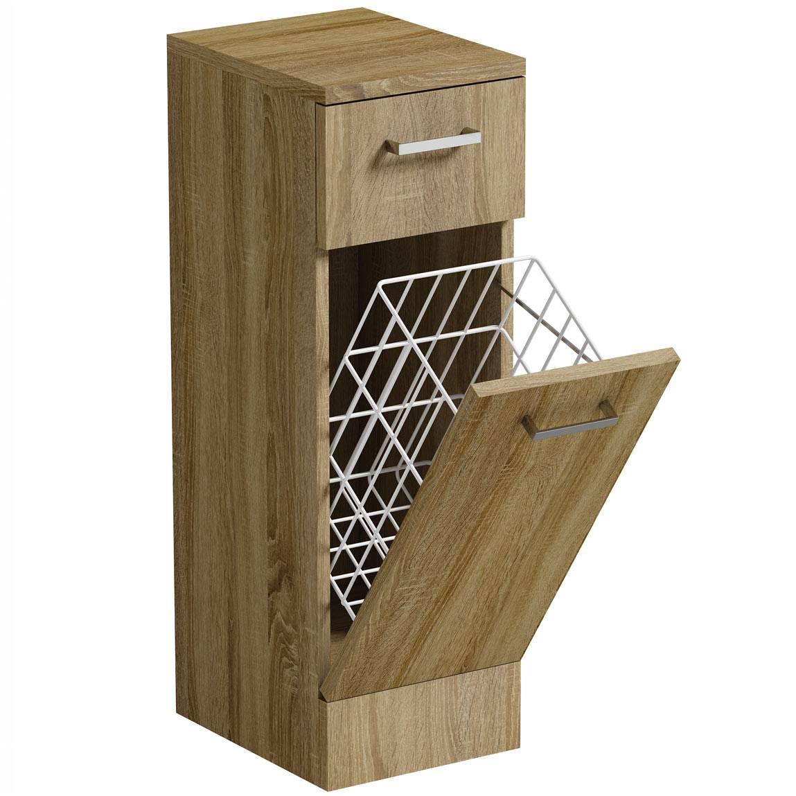 Image of Sienna Oak Linen Basket 300