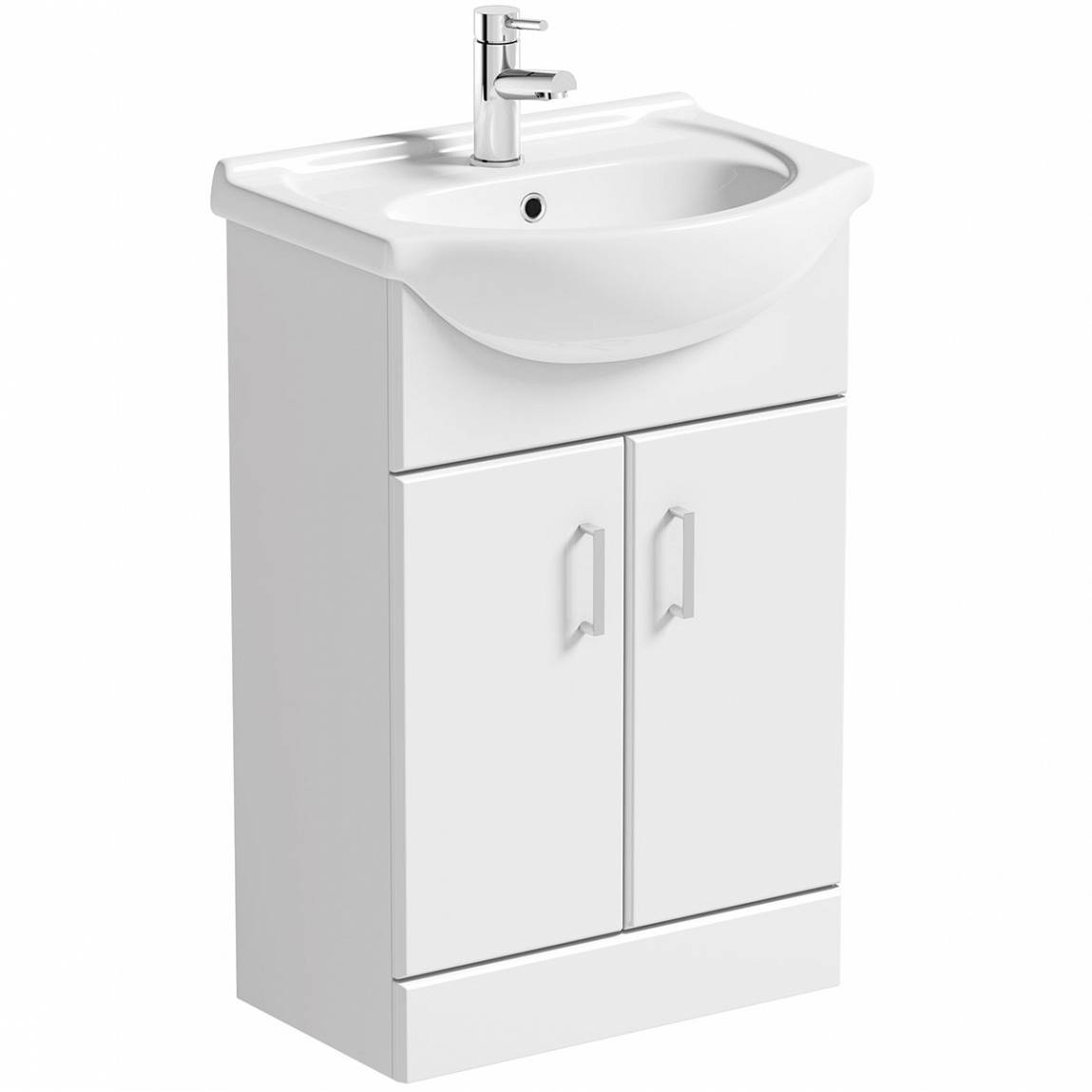 bathroom basin and cabinet white vanity unit with basin 550mm victoriaplum 15511