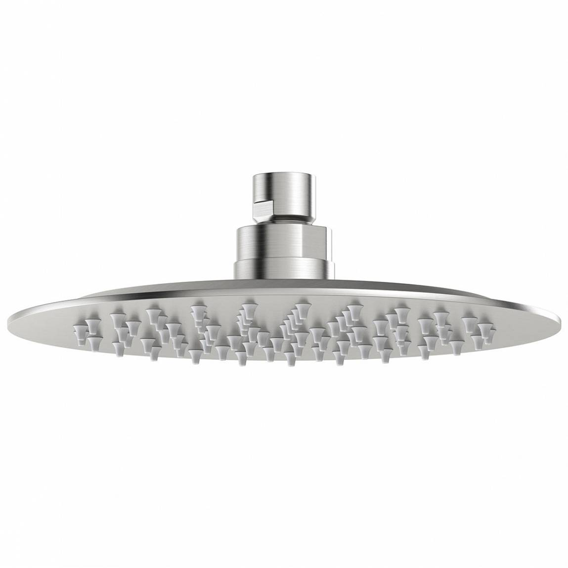 Image of Brushed Stainless Steel Waifer Shower Head Round 200mm