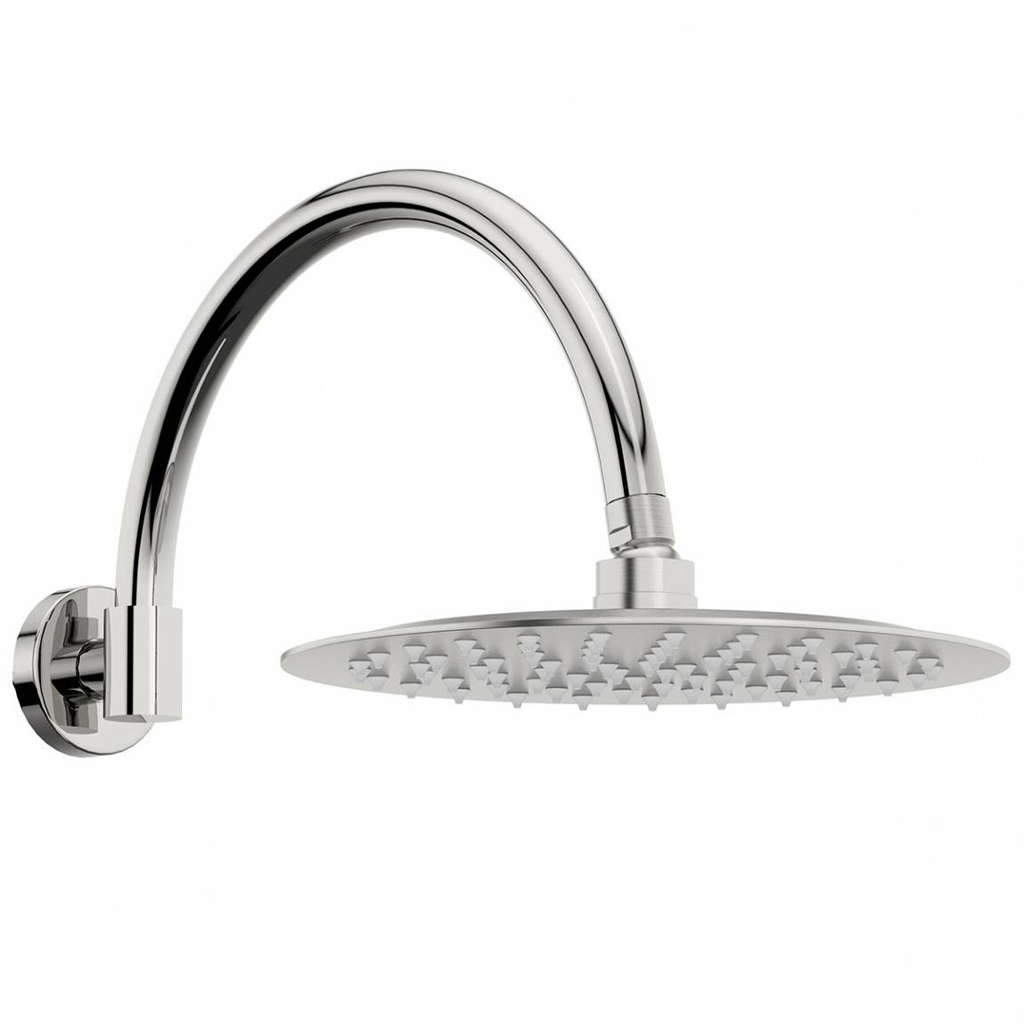 Image of Cirrus 250mm Shower Head & Traditional Wall Arm