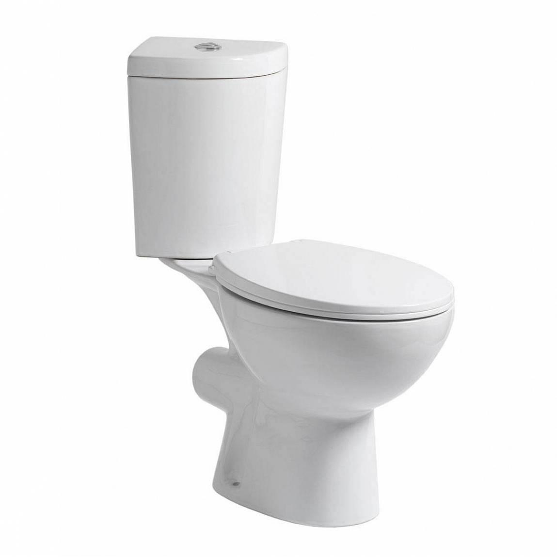 Image of Palm Corner Close Coupled Toilet inc Soft Close Seat PLUS Pushfit Valve