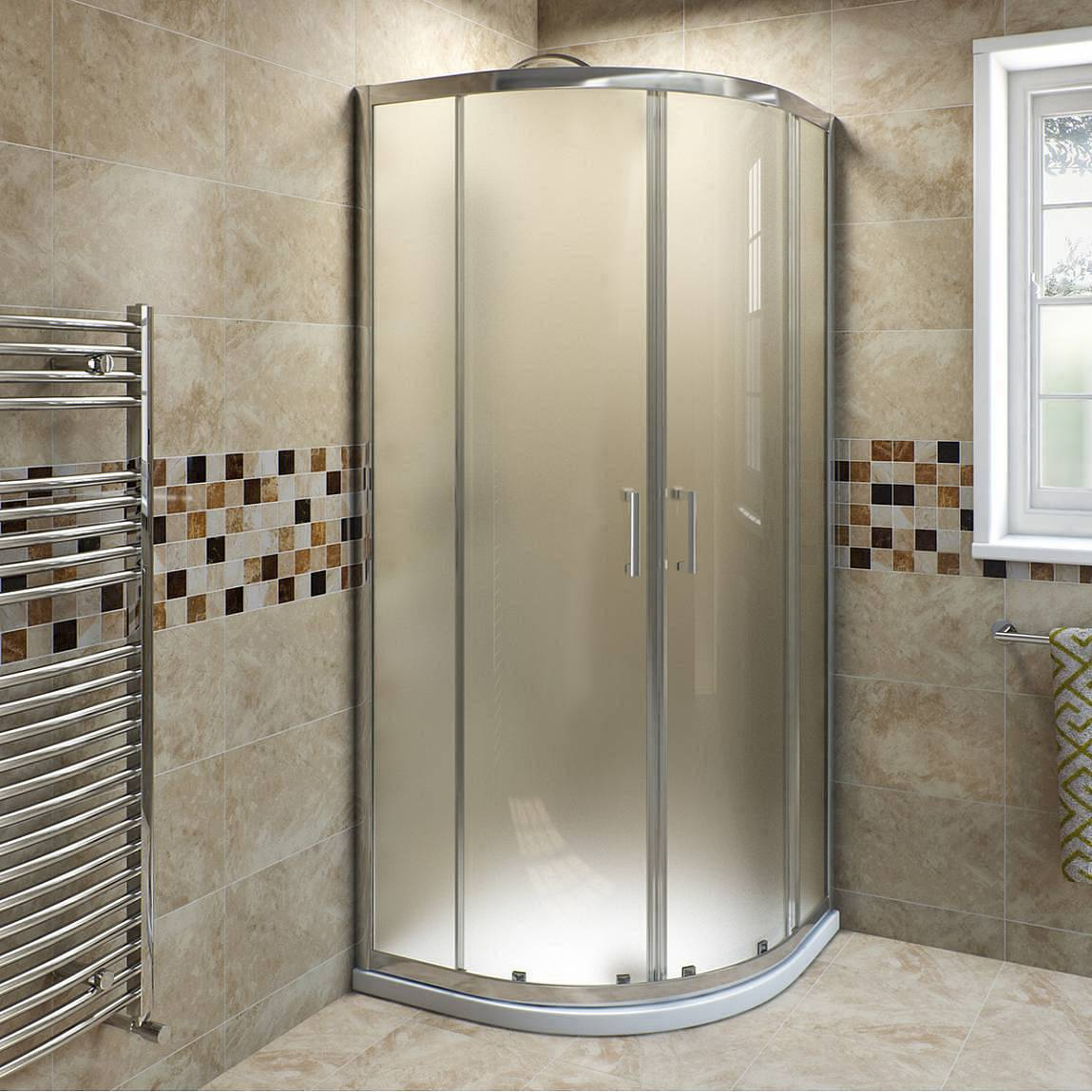Image of V6 6mm Frosted Glass Quadrant Shower Enclosure 900