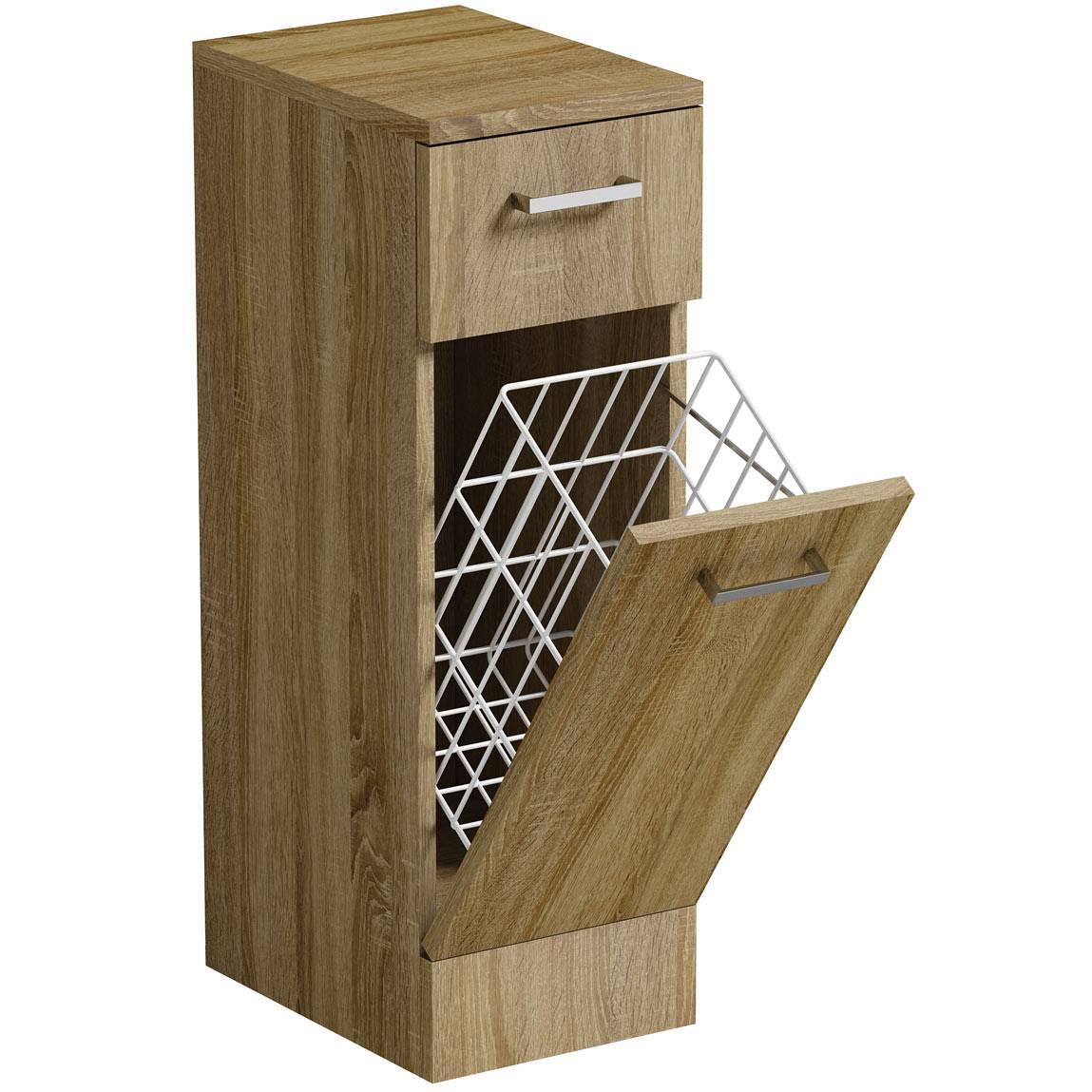 Image of Sienna Oak Linen Basket 330