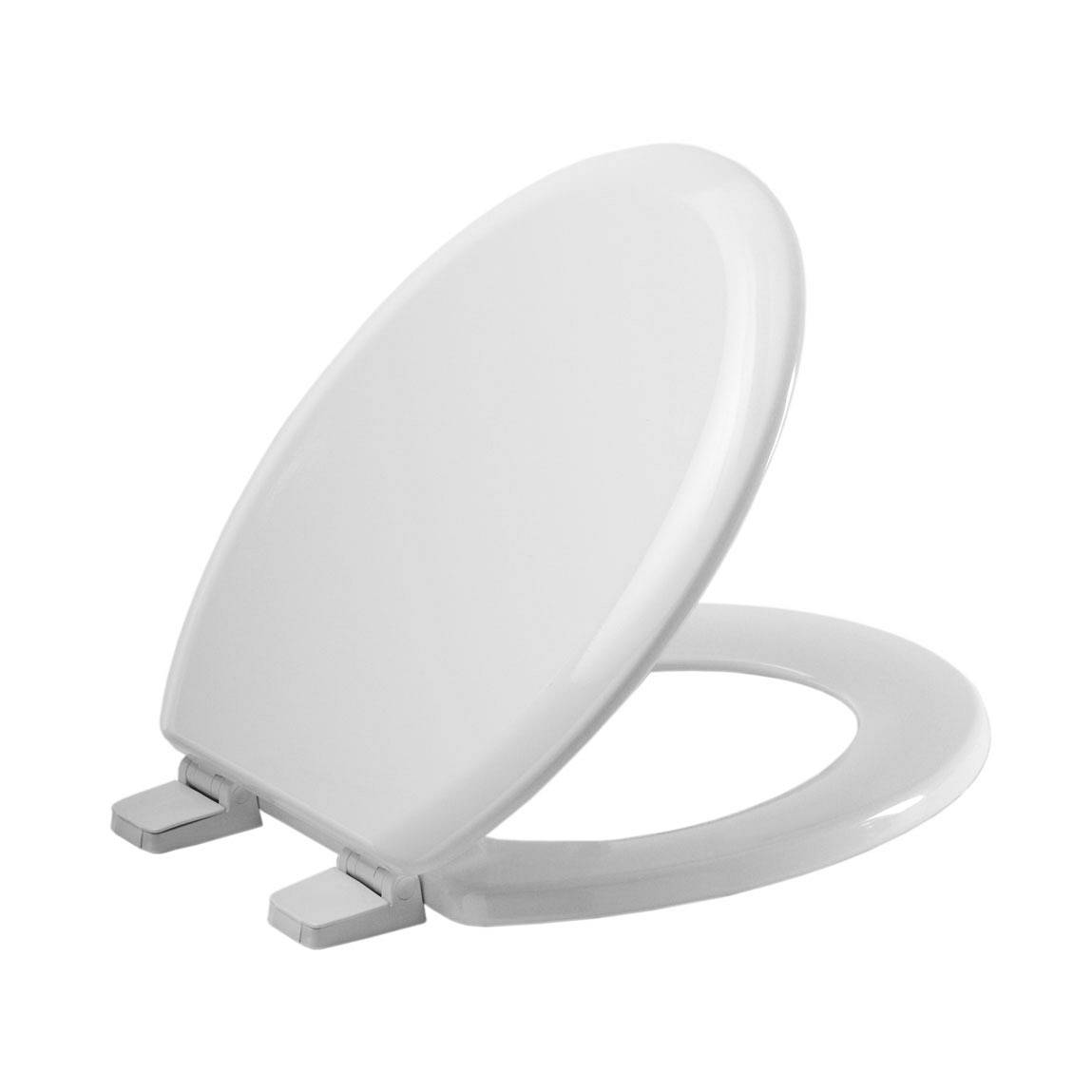Image of White Wooden Toilet Seat