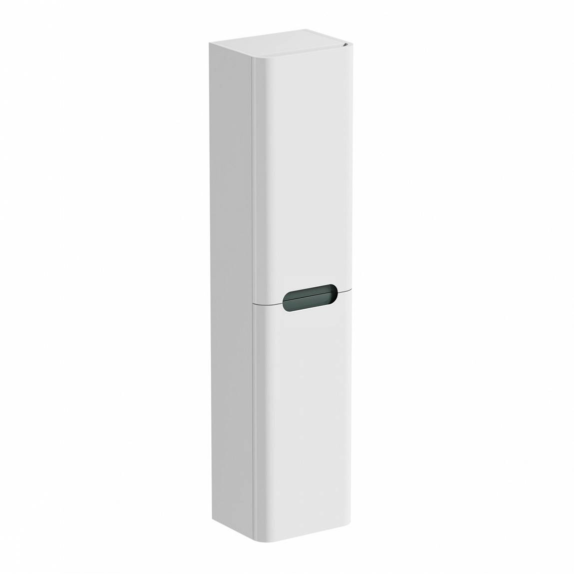 Image of Planet Select White Wall Cabinet with Slate Insert