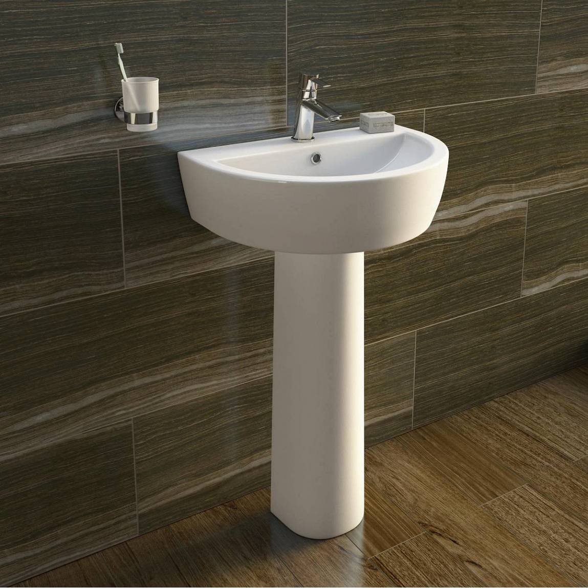 Arc back to wall toilet and basin suite - Different types of bathroom sinks ...