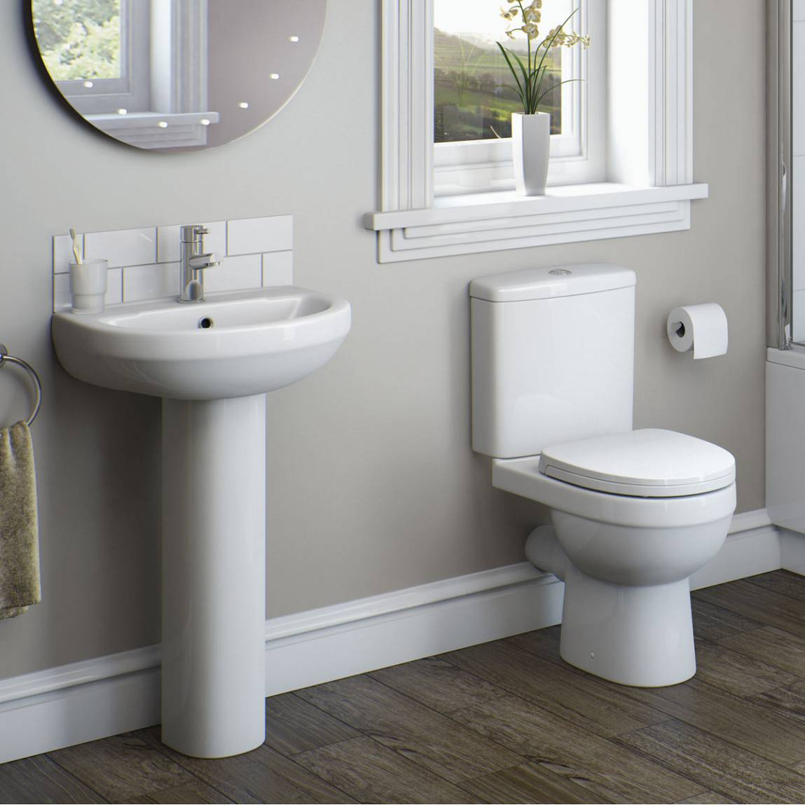 Image of Energy Short projection Toilet and Basin Suite