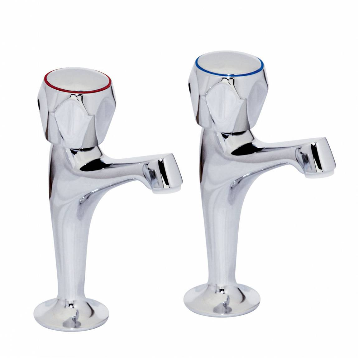 """Image of Rydal 1/2"""" Kitchen Taps with Hexagon Handle"""