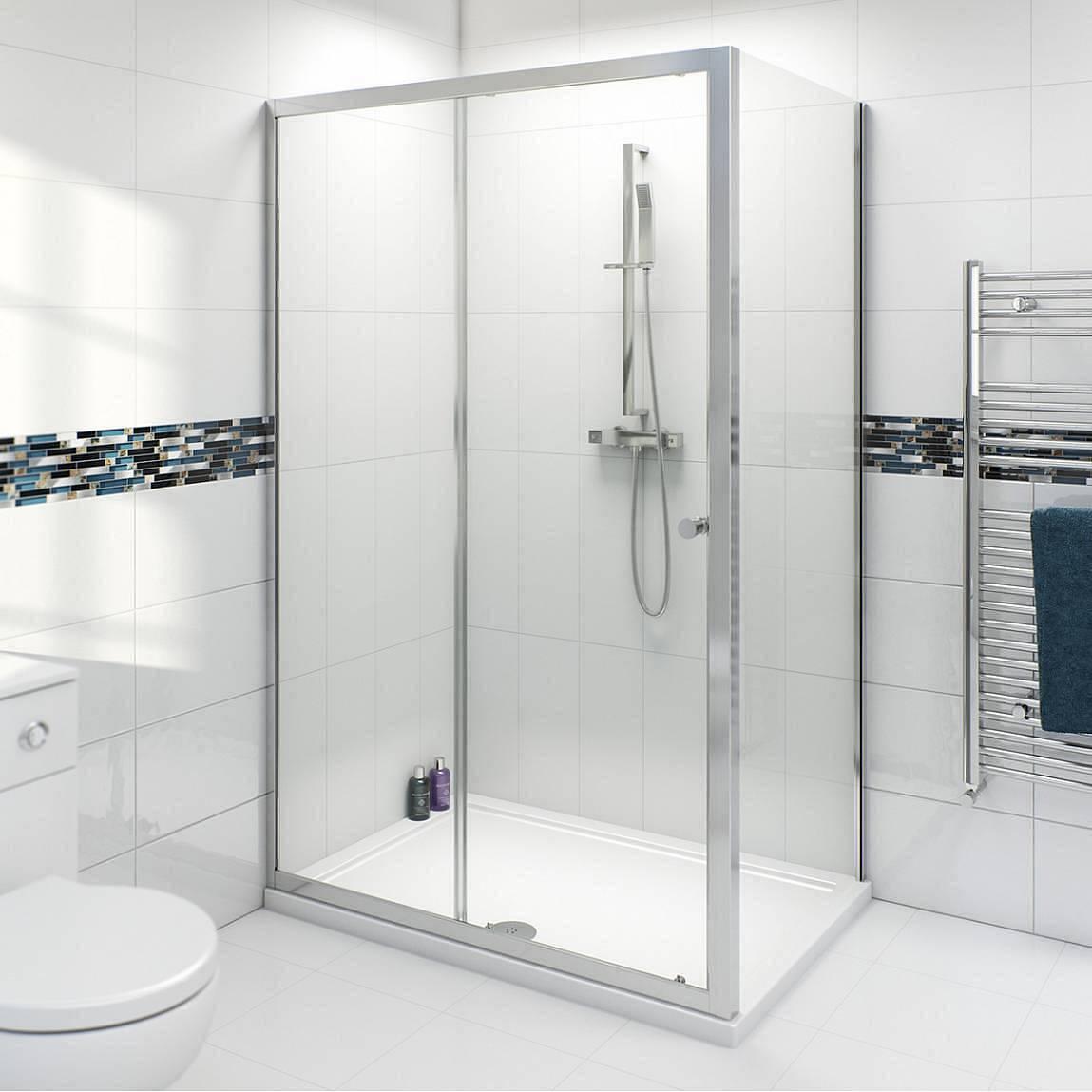 Image of V4 4mm Sliding Shower Enclosure 1000 & 760