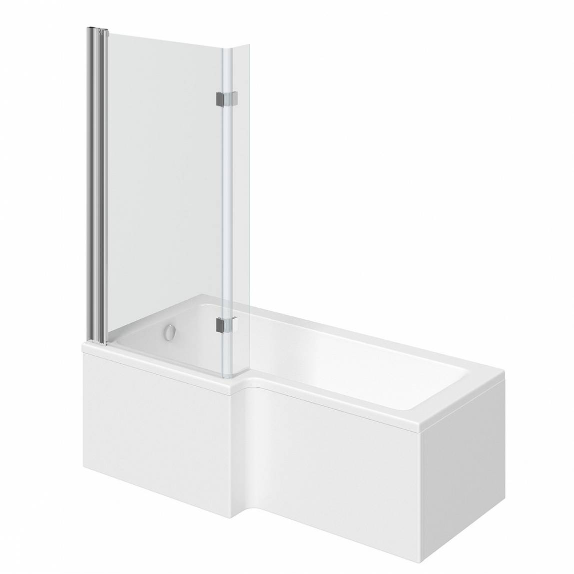 Image of Boston Shower Bath 1500 x 850 LH with 8mm Hinged Screen