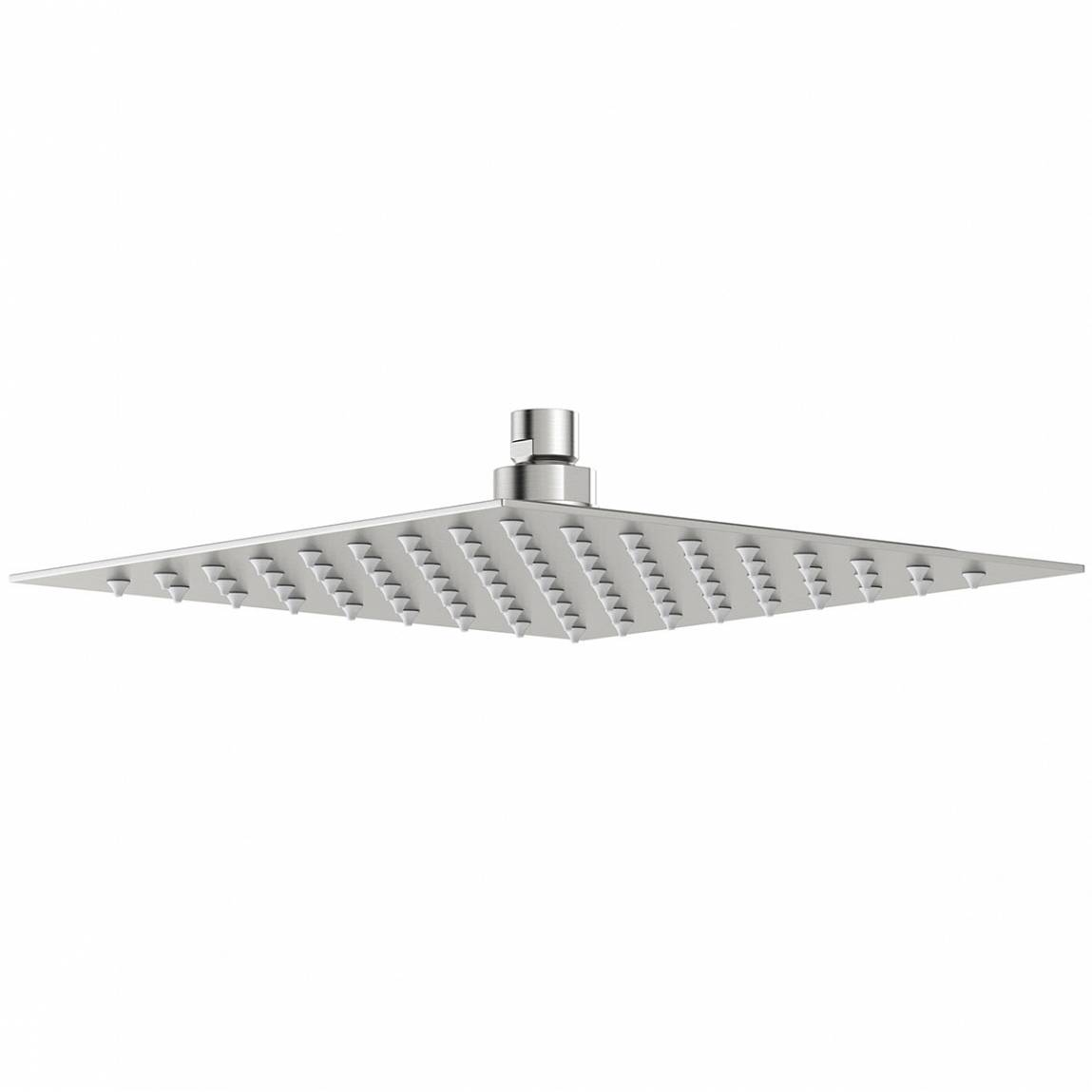 Image of Brushed Stainless Steel Waifer Shower Head Square 250mm